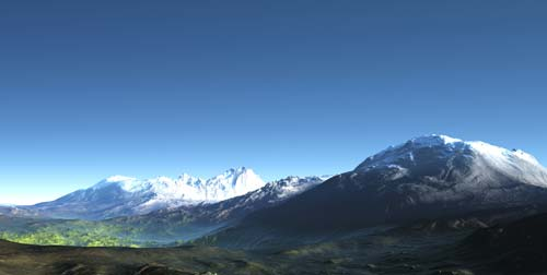 горы небо месяц скачать